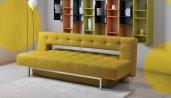 Sofa rozkładana Bari, regał ażurowy