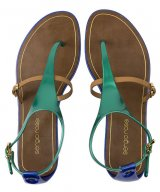 różnokolorowe sandały