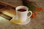 kubek z herbatą